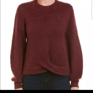 Joie Stavan burgundy sweater NWT